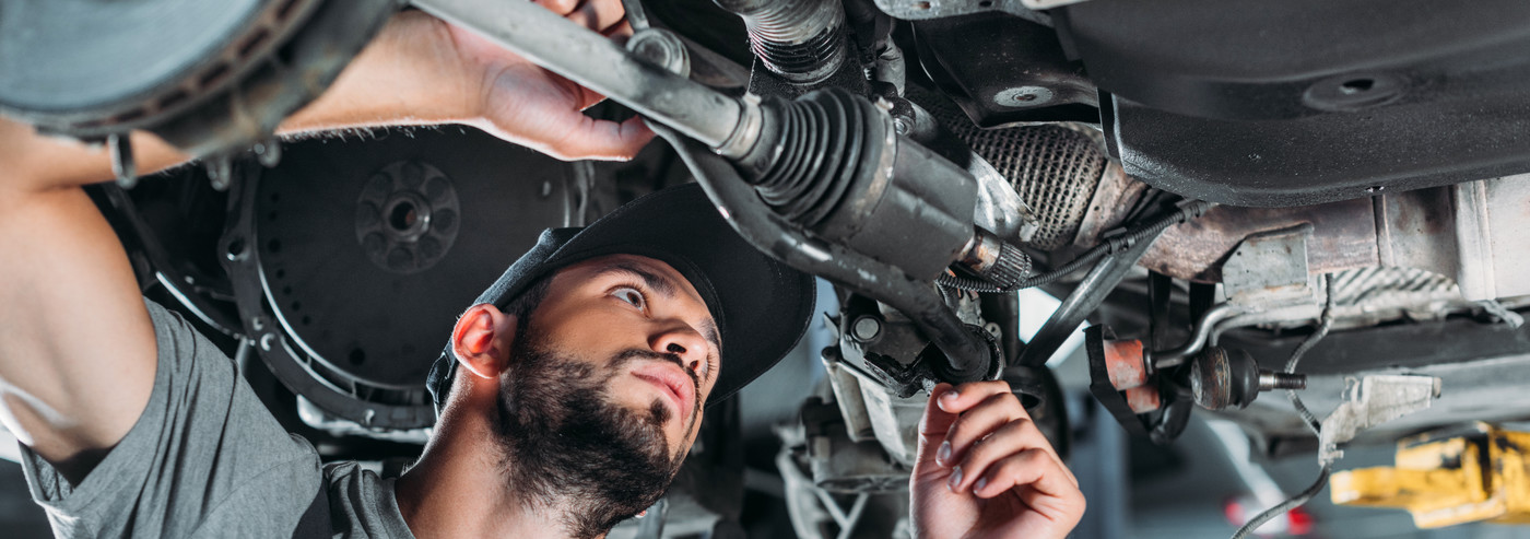 Mechanic taking a look at a vehicle - Car Repairs Colchester